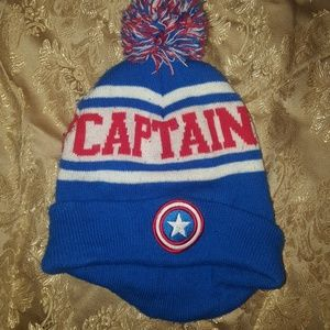 cb37a9a636bc6f Marvel Captain America Kids Beanie Hat One Size